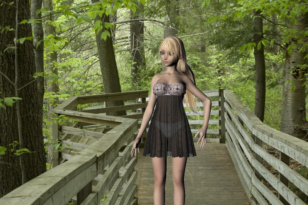 Aiko on Forest Boardwalk