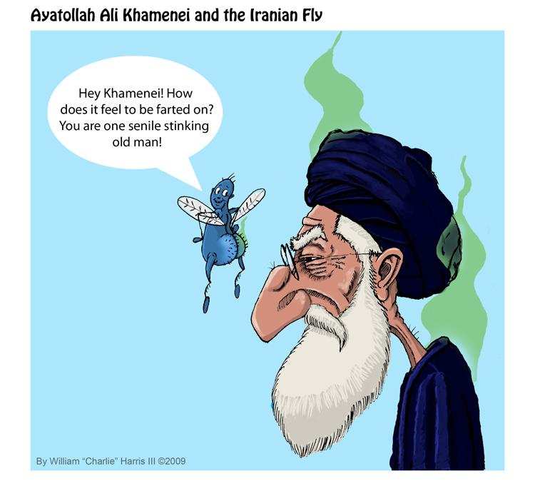 Image result for Ayatollah Khamenei CARTOON