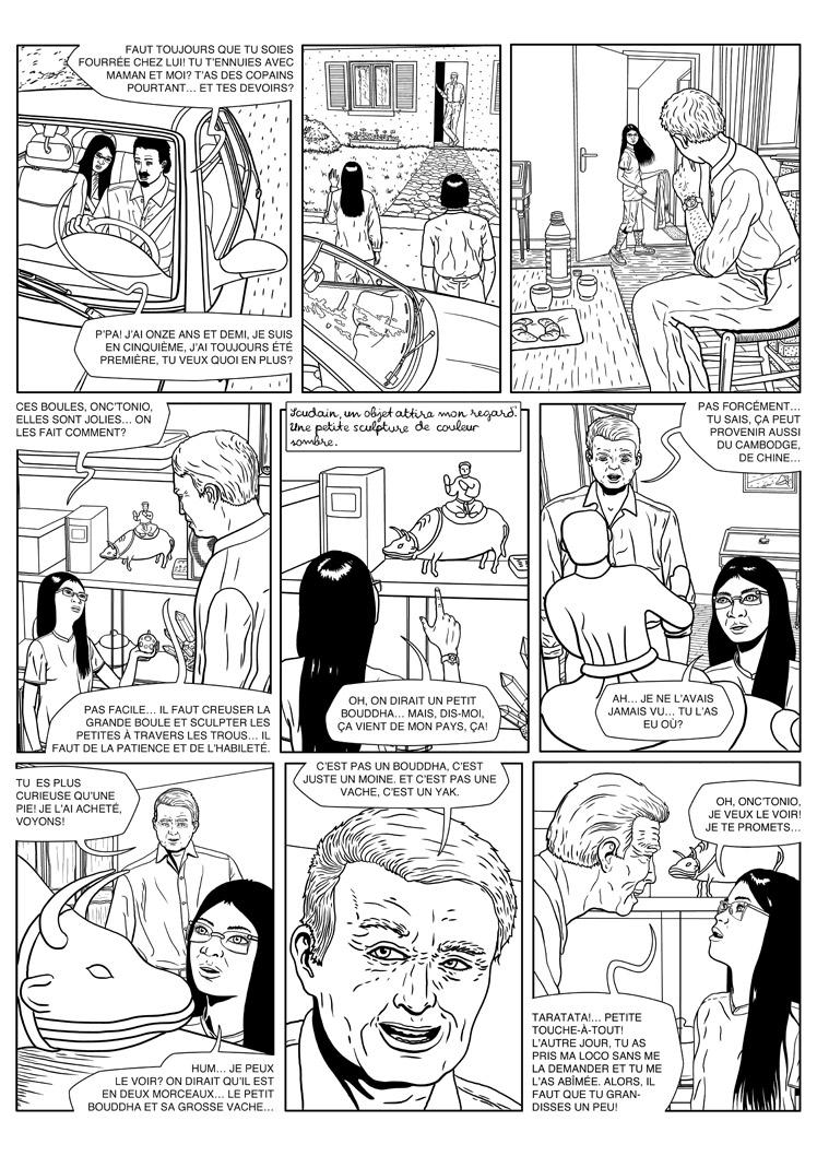 Silvia 15: comic page creation 4, inked page