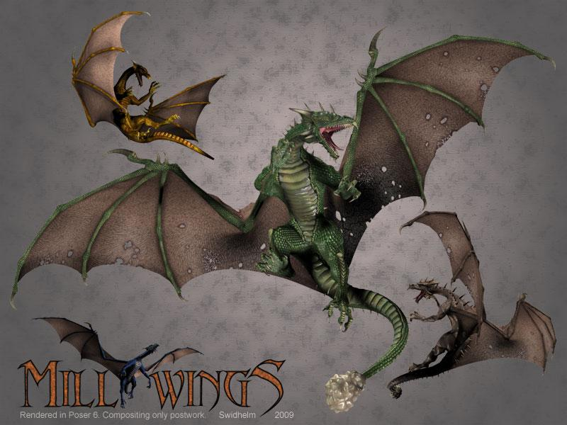 Mill Wings for the Mill Dragon