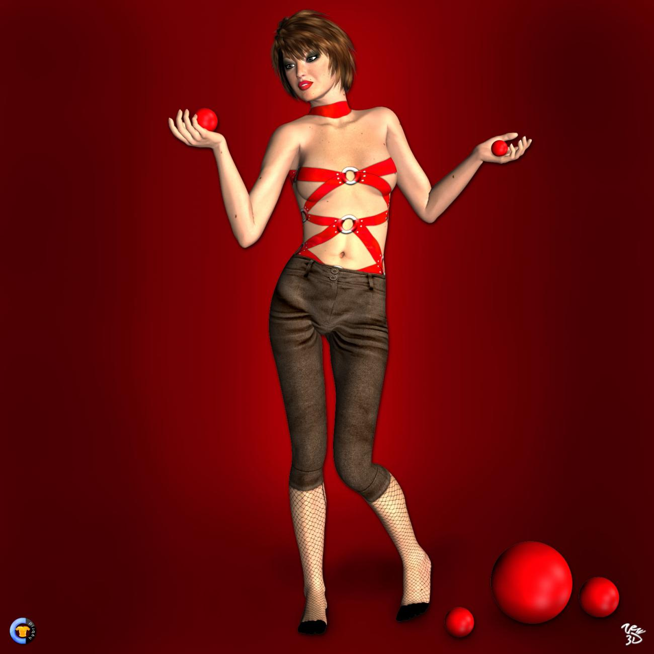 CLOTHER Hybrid - Lady in Red by zew3d