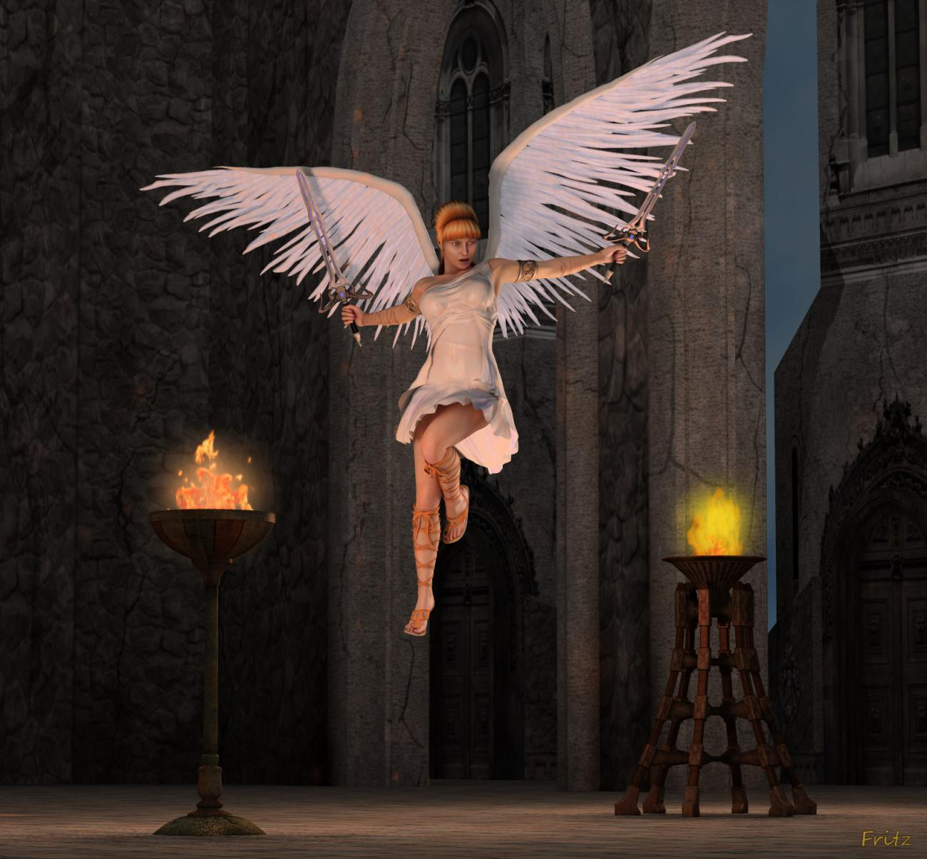Angel Descending by Connatic