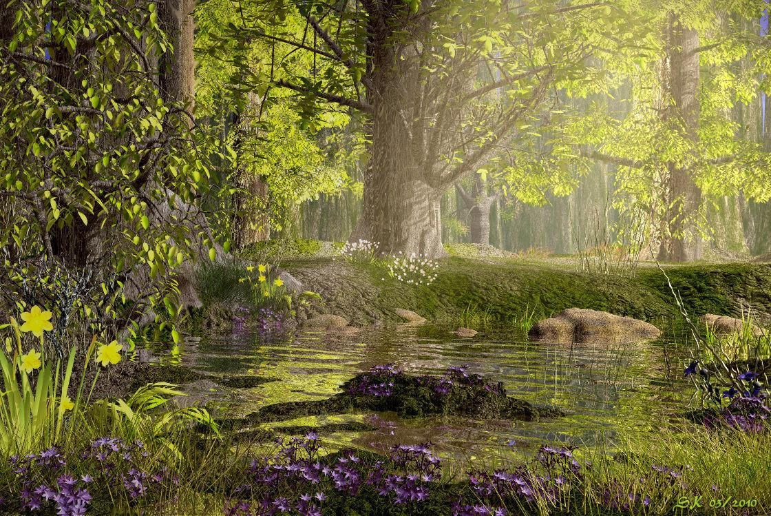 Enchanted Spring Forest