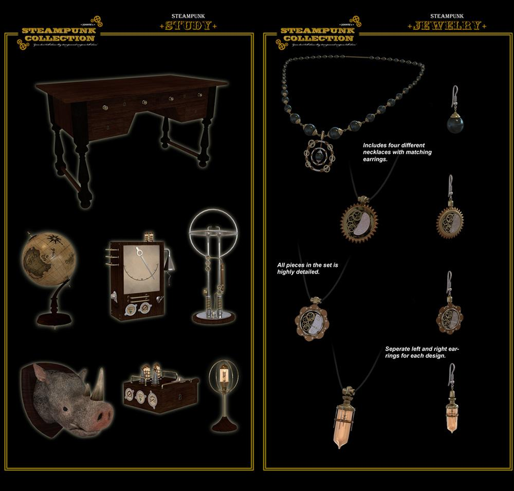 SteamPunk - Study and Jewelry