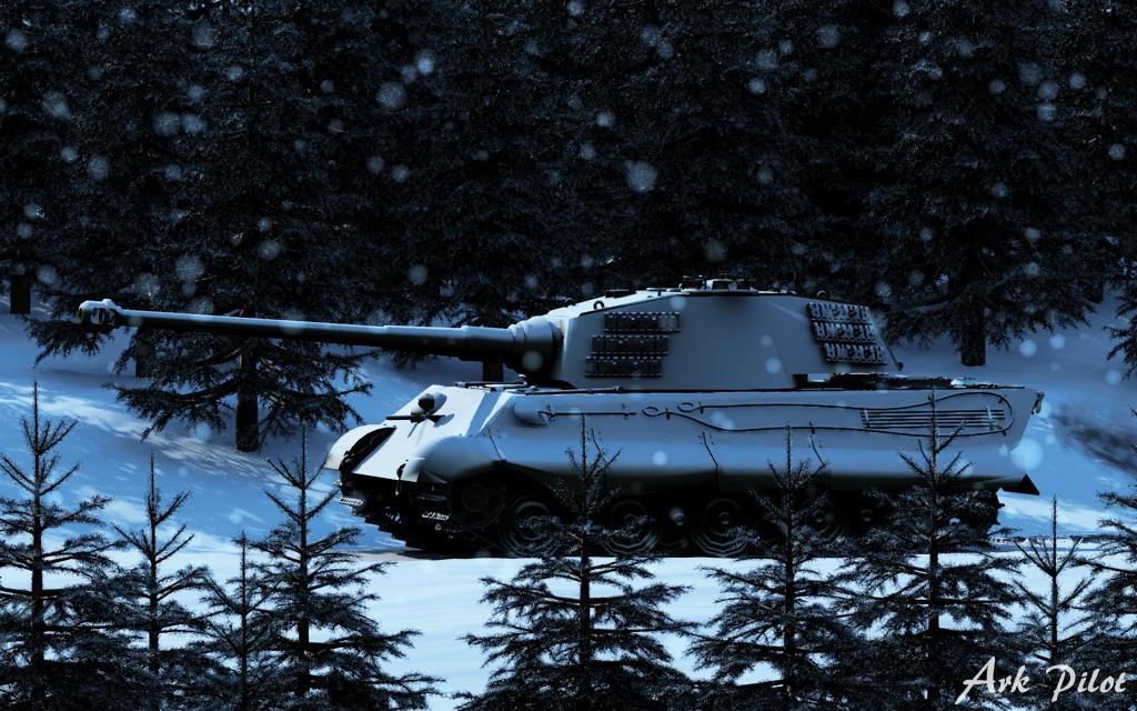 Tiger Ⅱ tank in forest of Ardennes (Remake) by Ark_Pilot