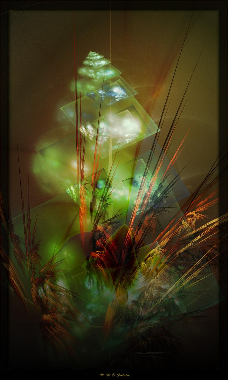 Bouquet with glass