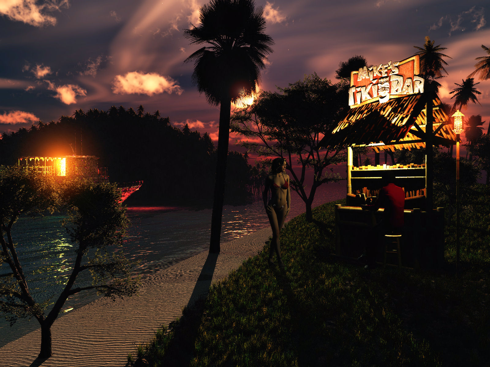 Another Night at Mike's Tiki Bar