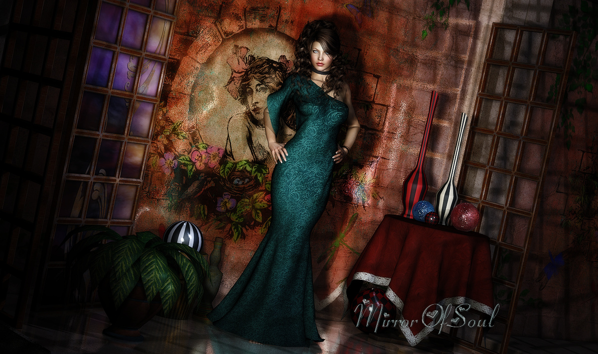 Gothic Long Dress (for Nathalie_)