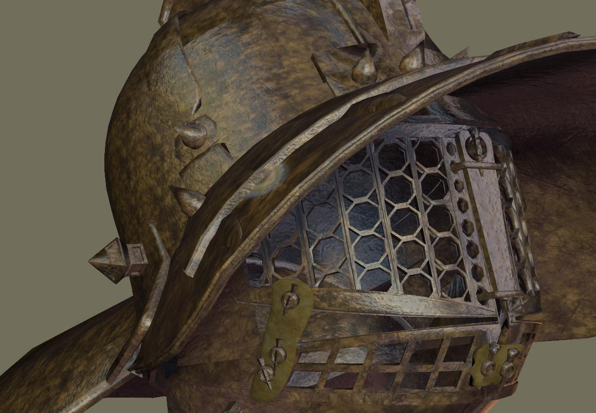 Gladiator Helmet in one Metal