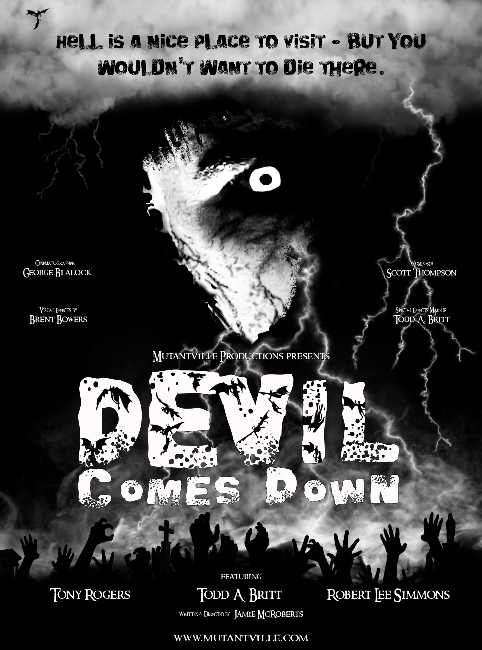 Devil Comes Down Poster Design