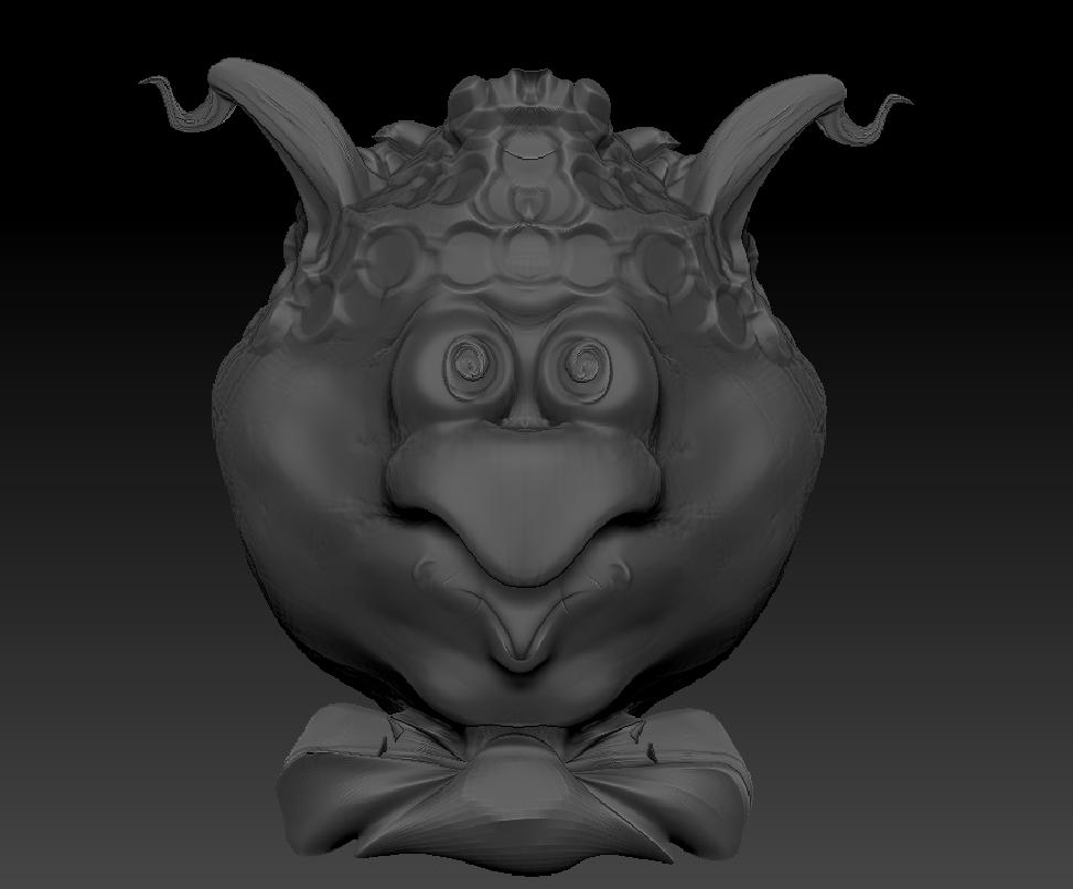First sculpt in Zbrush by Stormi