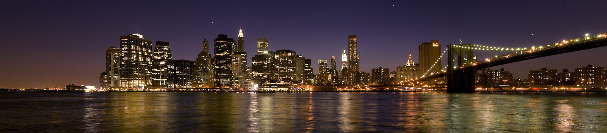 NYC @ Night Panorama