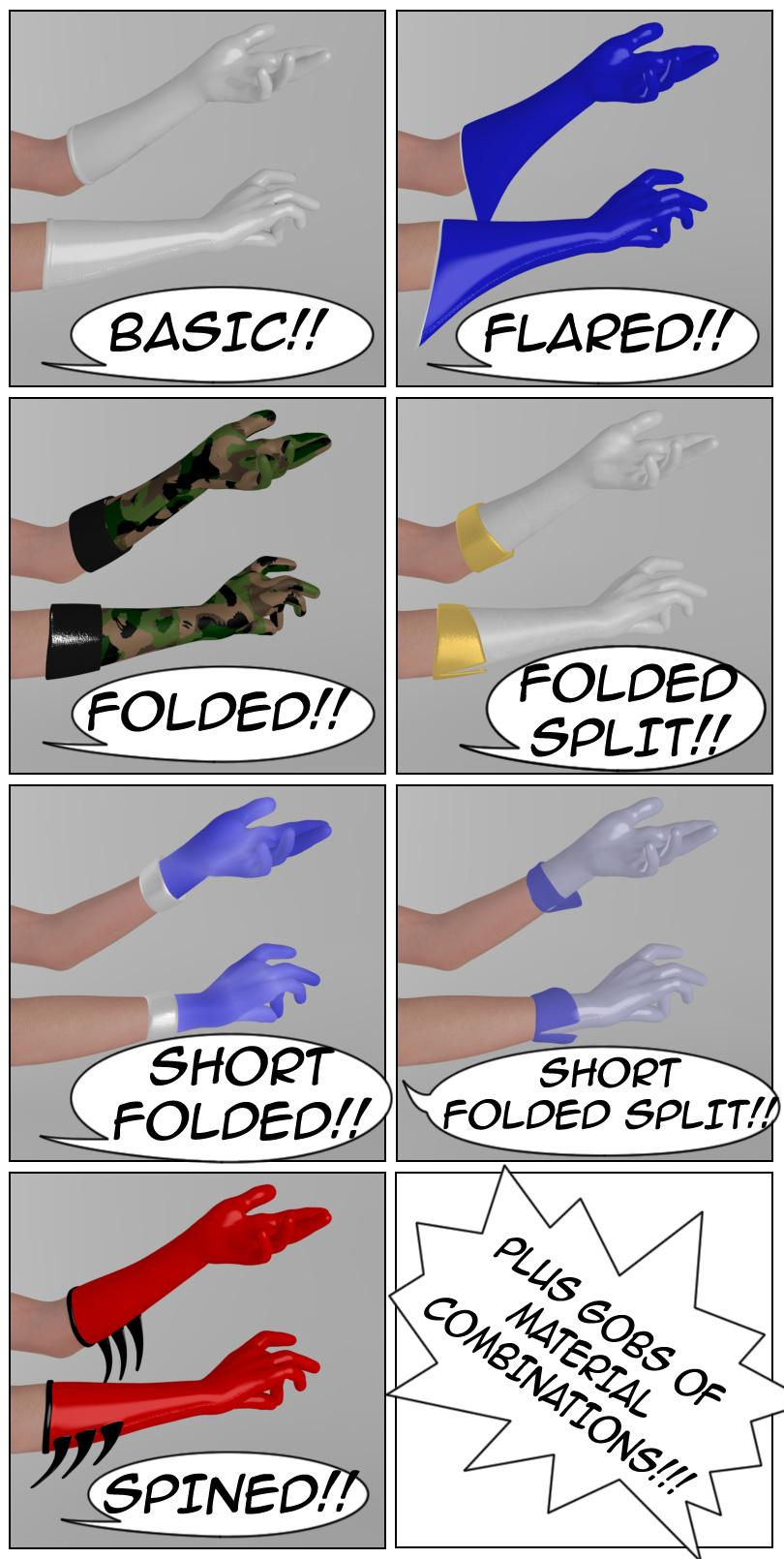 Four Color Gloves promo layout
