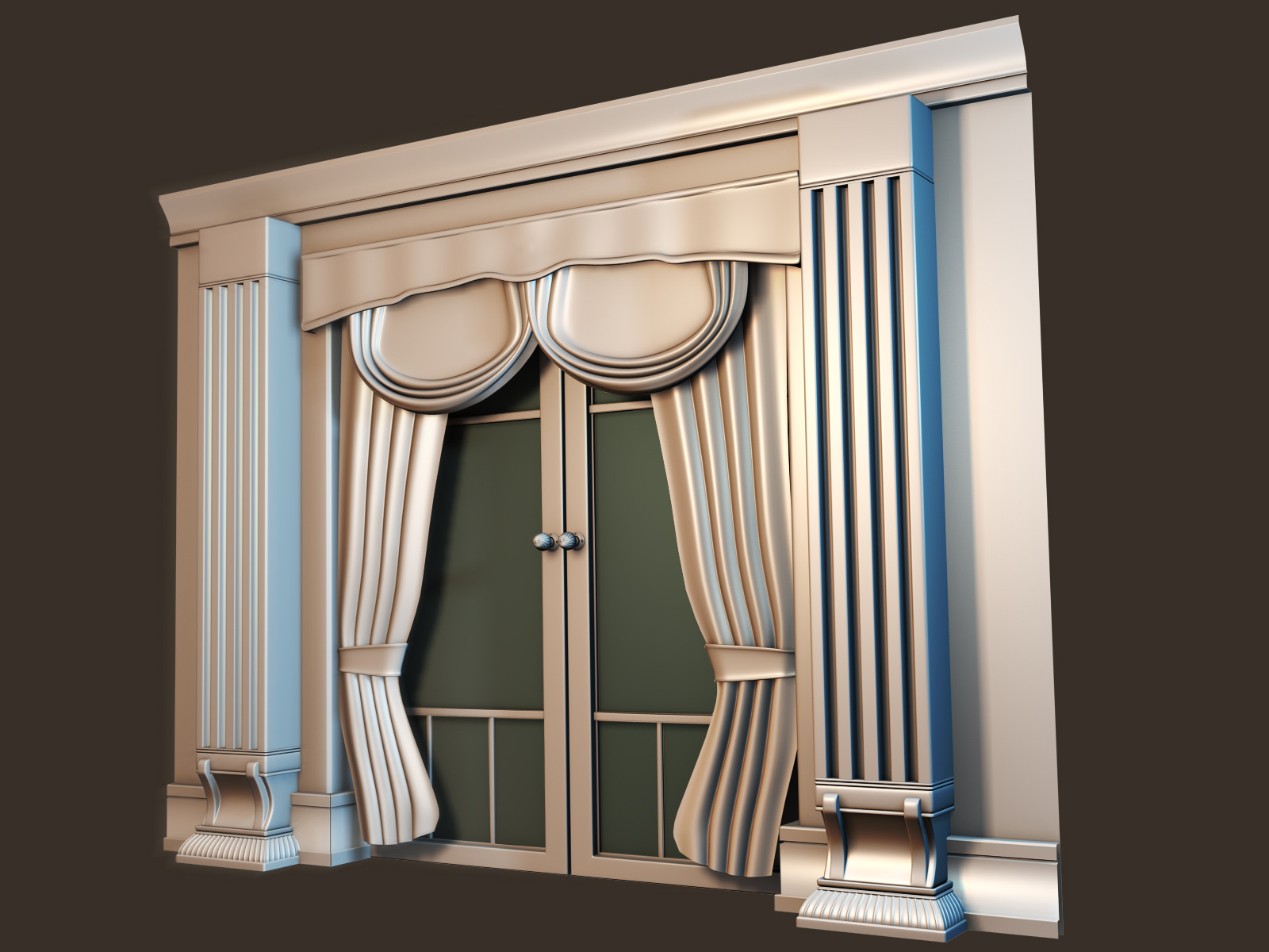 Victorian Wall Section Pre-Zbrush
