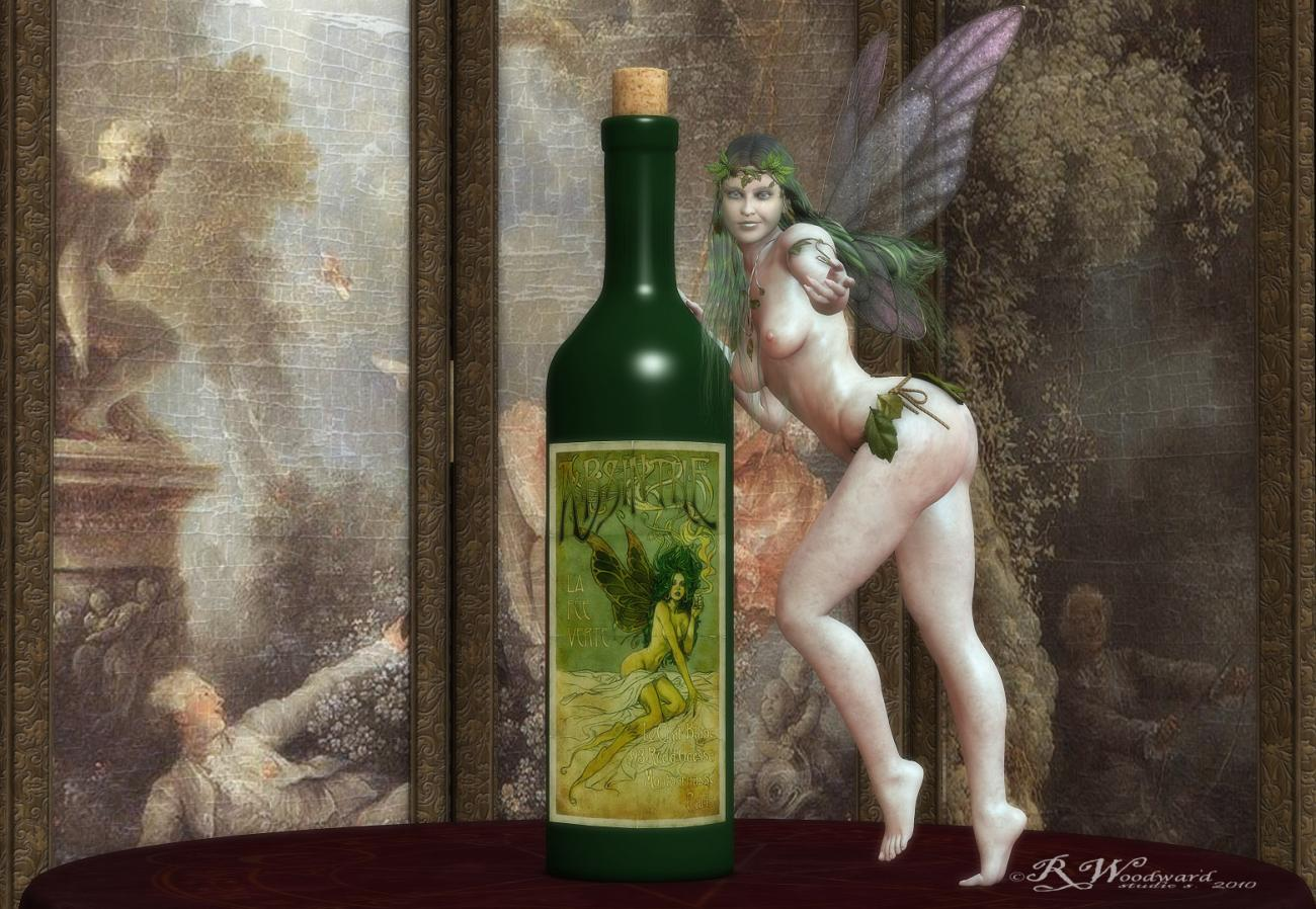 Absinthe Let the Green Fairy in you by ravenferret