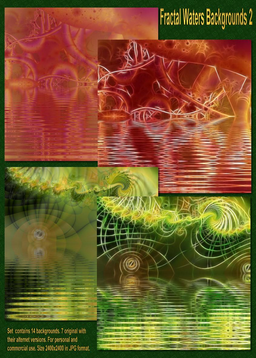 Fractal Waters Backgrounds 2