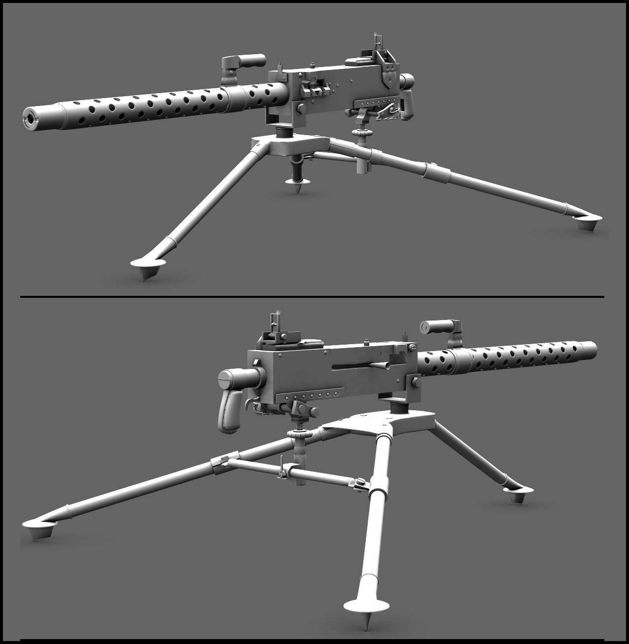 WW2 Browning M1919 WIP 2 by adh3d