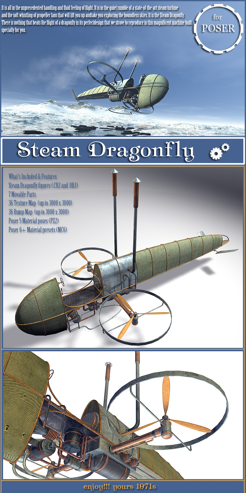 Steam Dragonfly Base