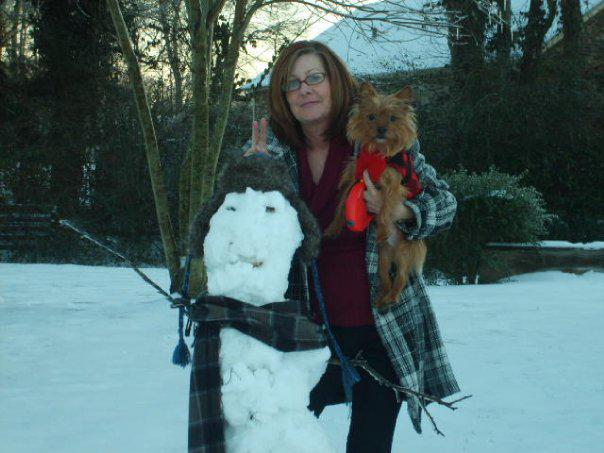 Elvis and our snowman