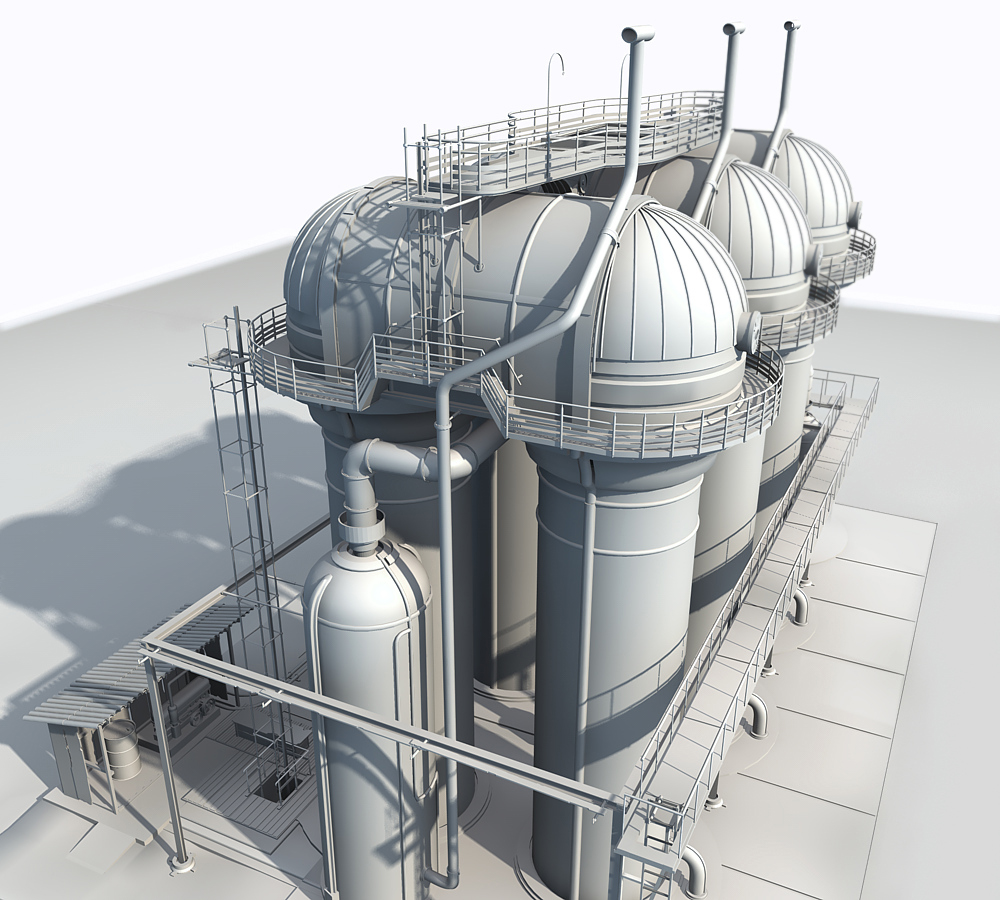 Grain silo wip by odessey cinema 4d architecture for Cinema 4d architecture