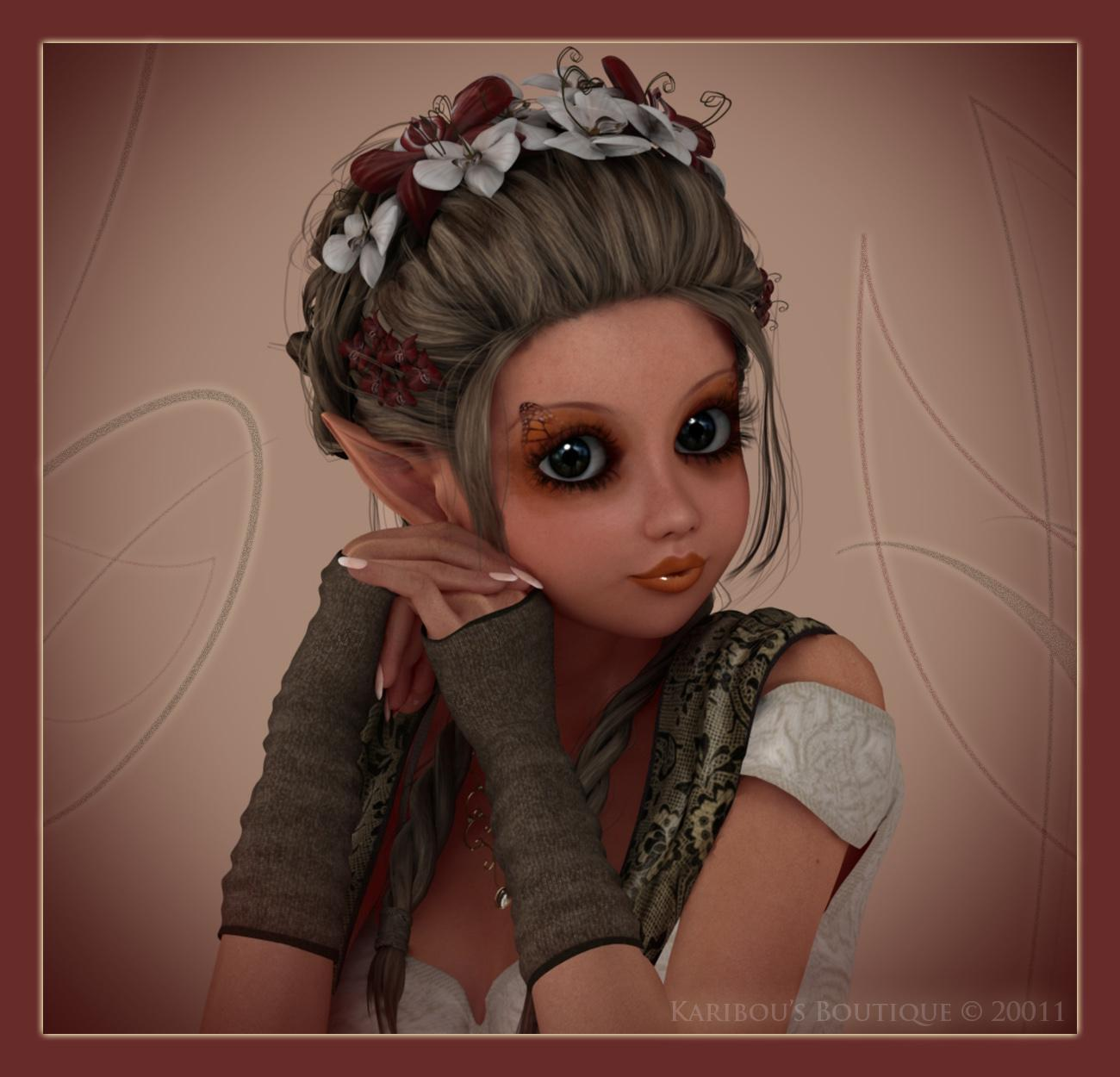Portrait of a Pixie by karibousboutique