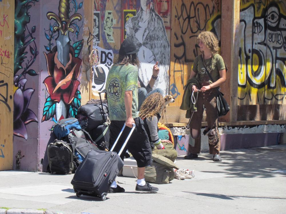 People on the Haight...S.F.,CA.