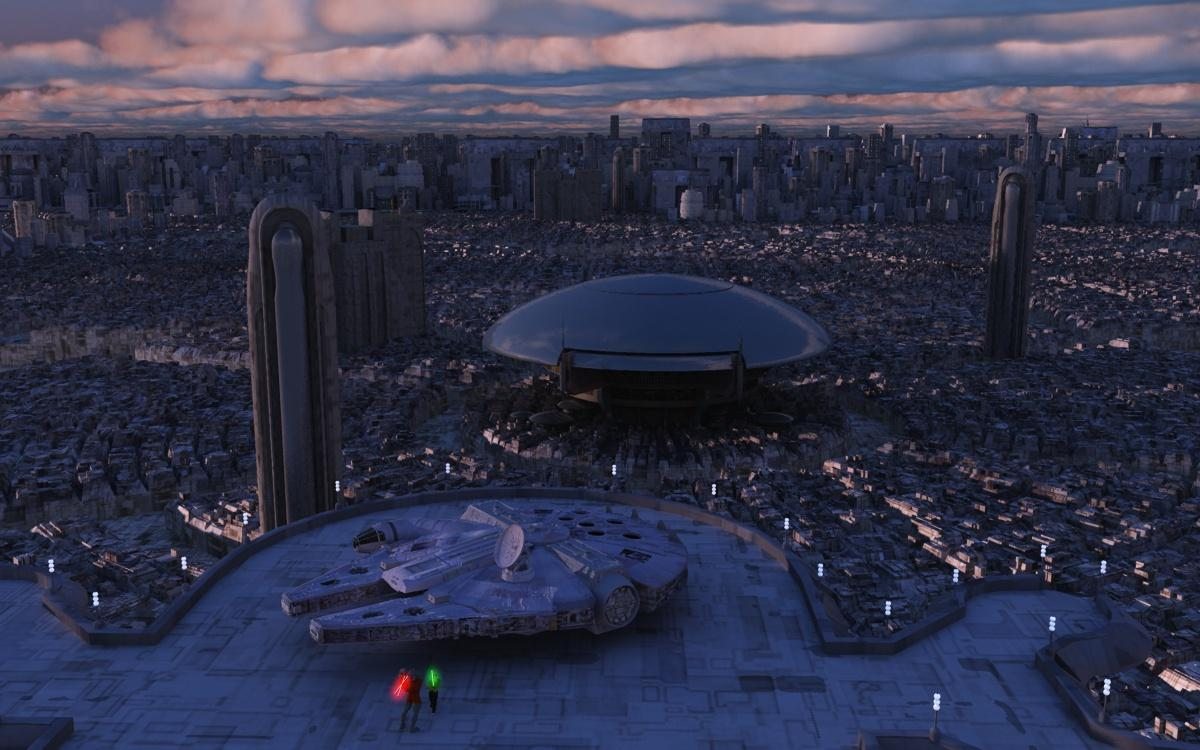 Fight on Coruscant