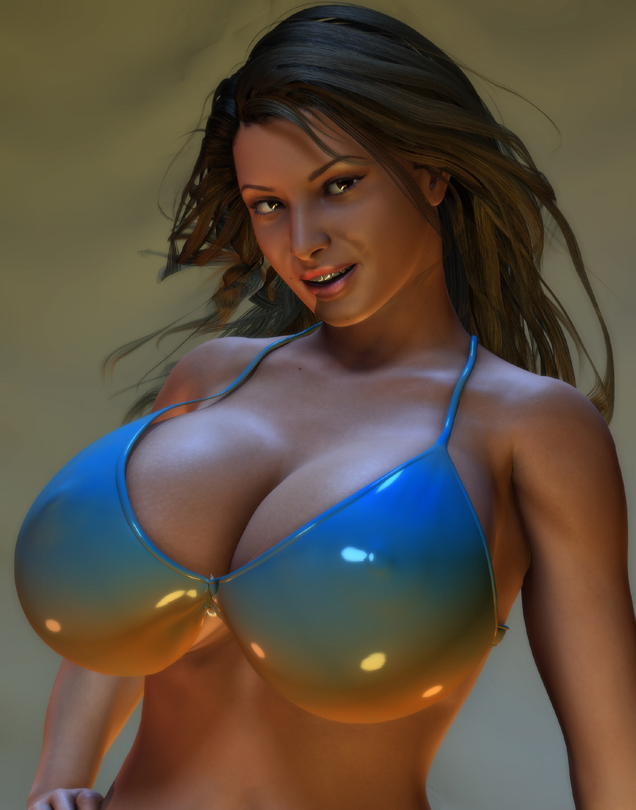 Huge breasts exposed