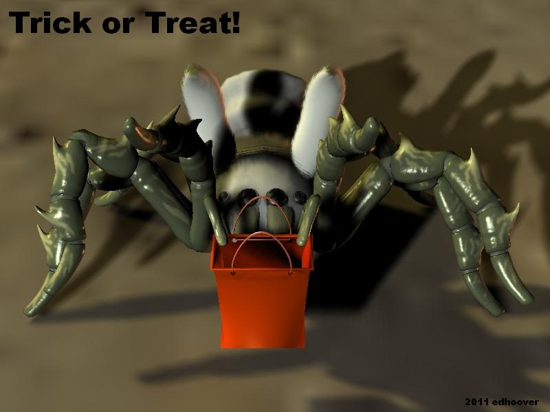 Trick or Treat said the creature...