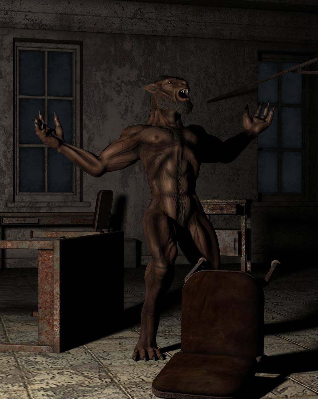 Werewolf in the old asylum by starbase1