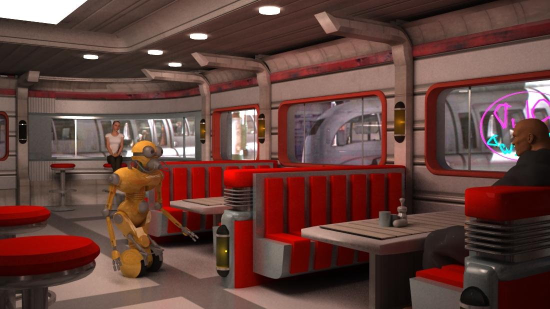 Star wars Dexter Diner  free model for subscribers