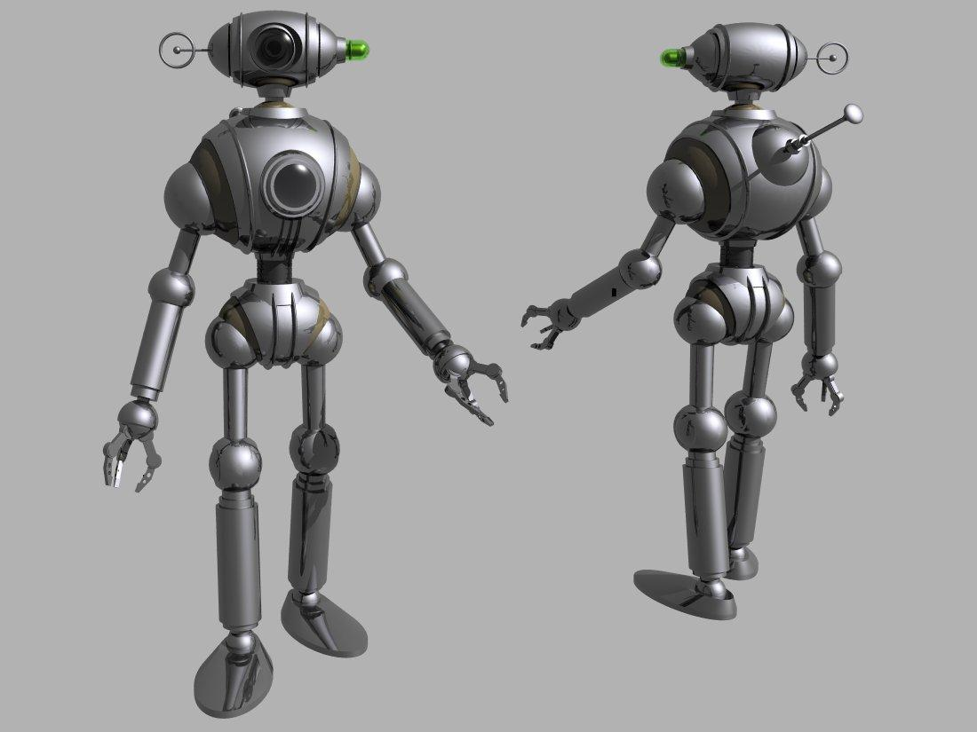 Shiny (and somehow camp) atom-age robot