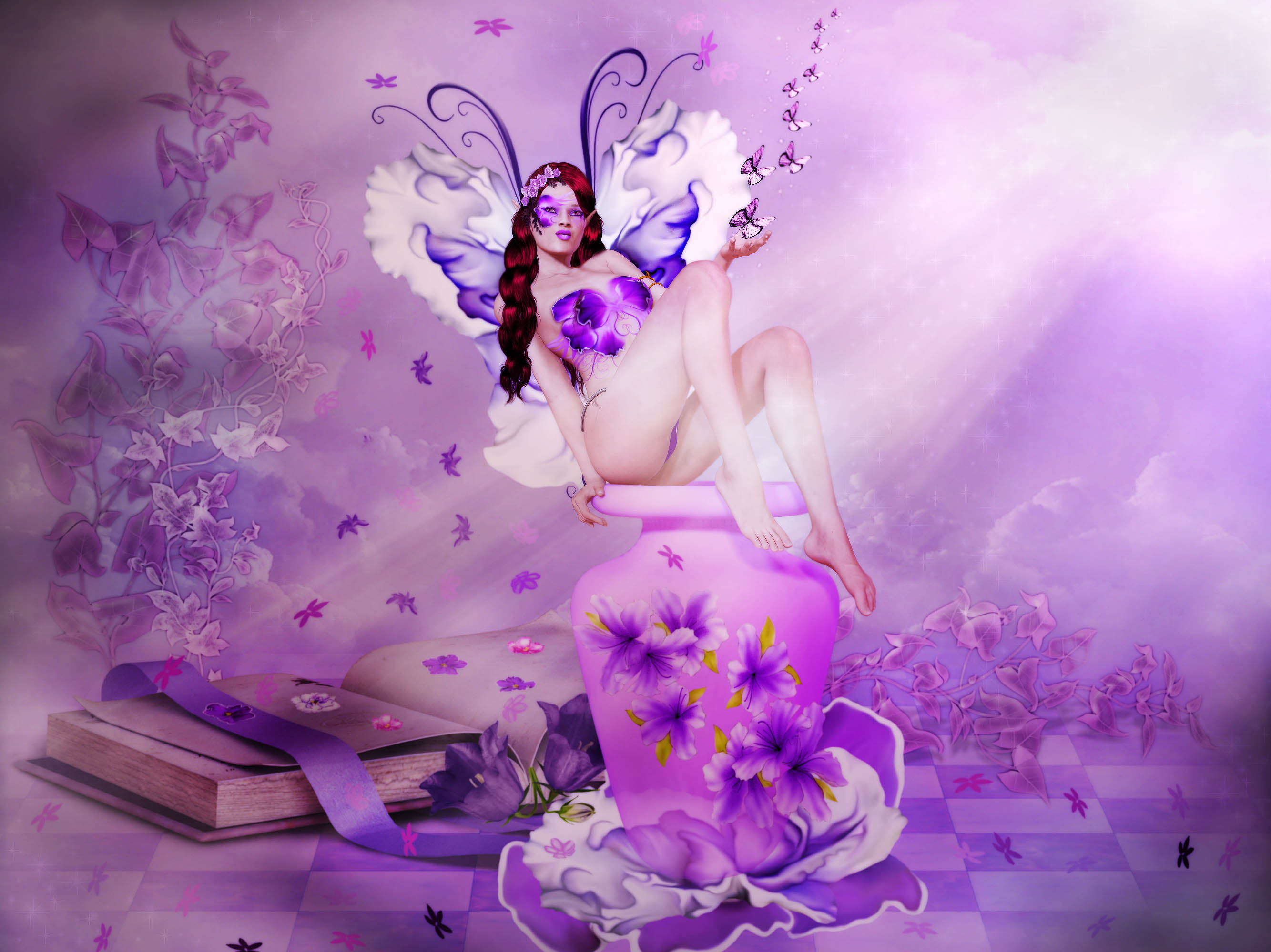 Violeta Musings-for Ilona and July B-day friends.