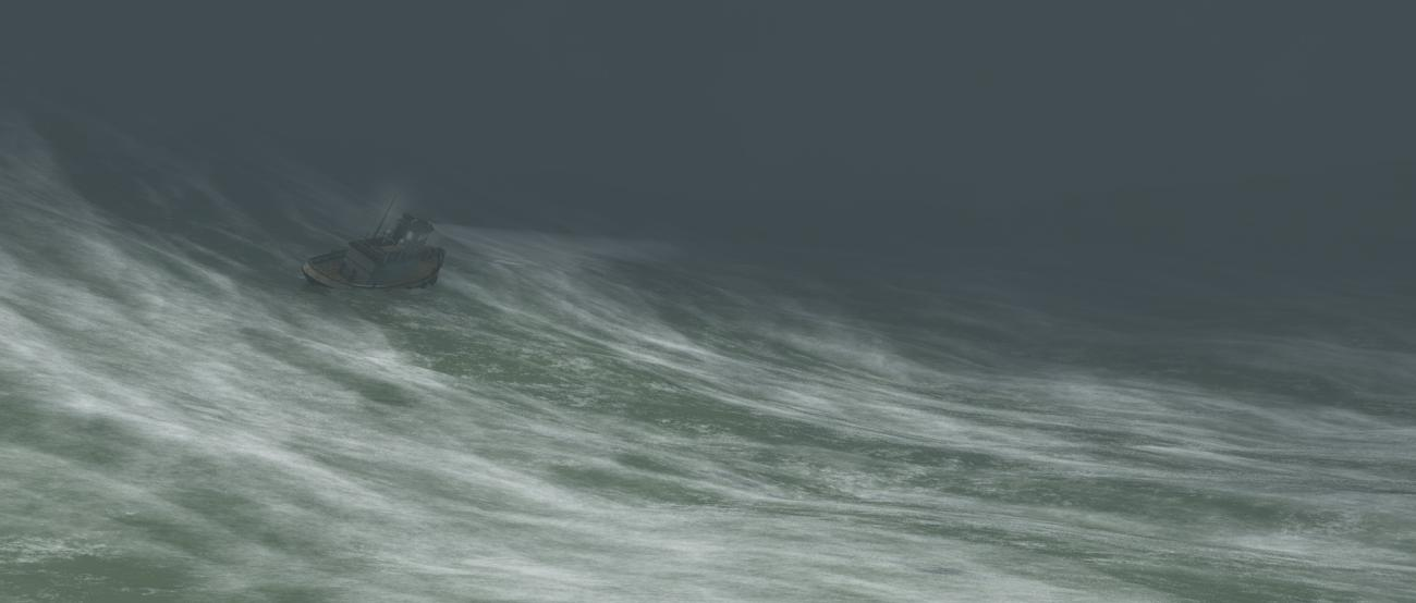 Running into heavy seas ...