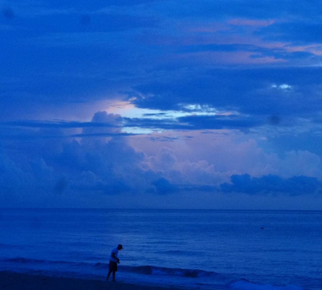 Walking in Blue Sunrise!