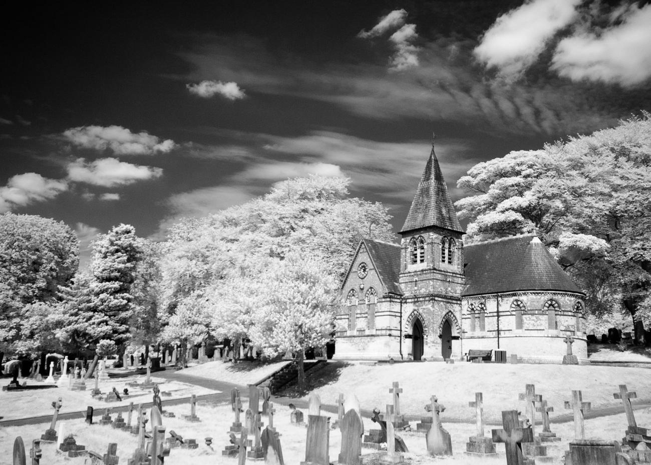 Cemetery  in the Sunshine  - IR