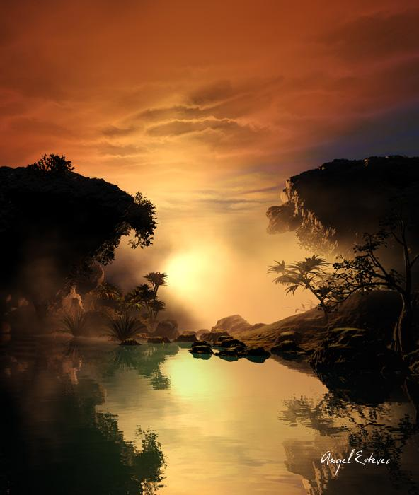 Reflections in the nightfall