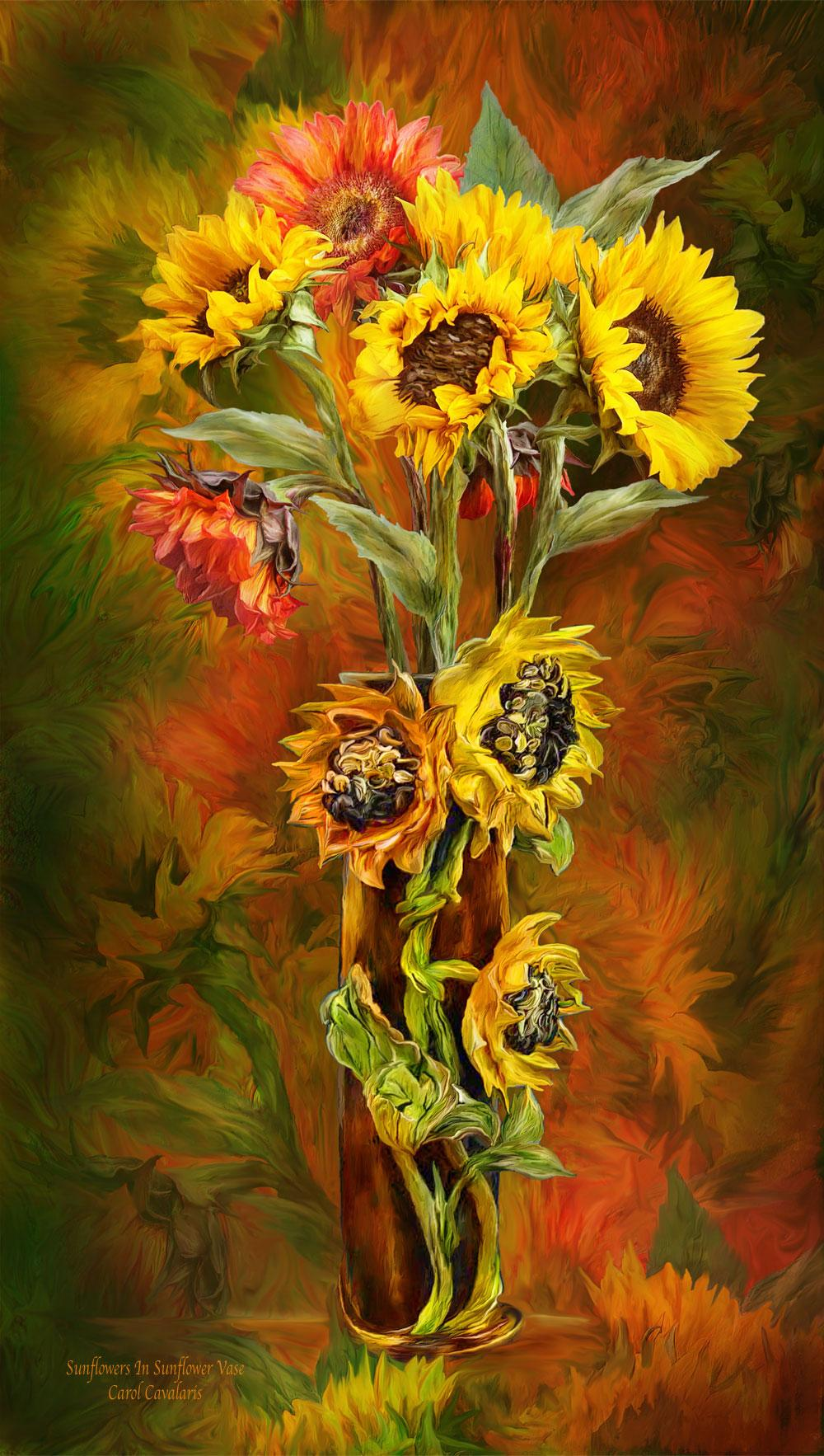 Sunflowers In Sunflower Vase