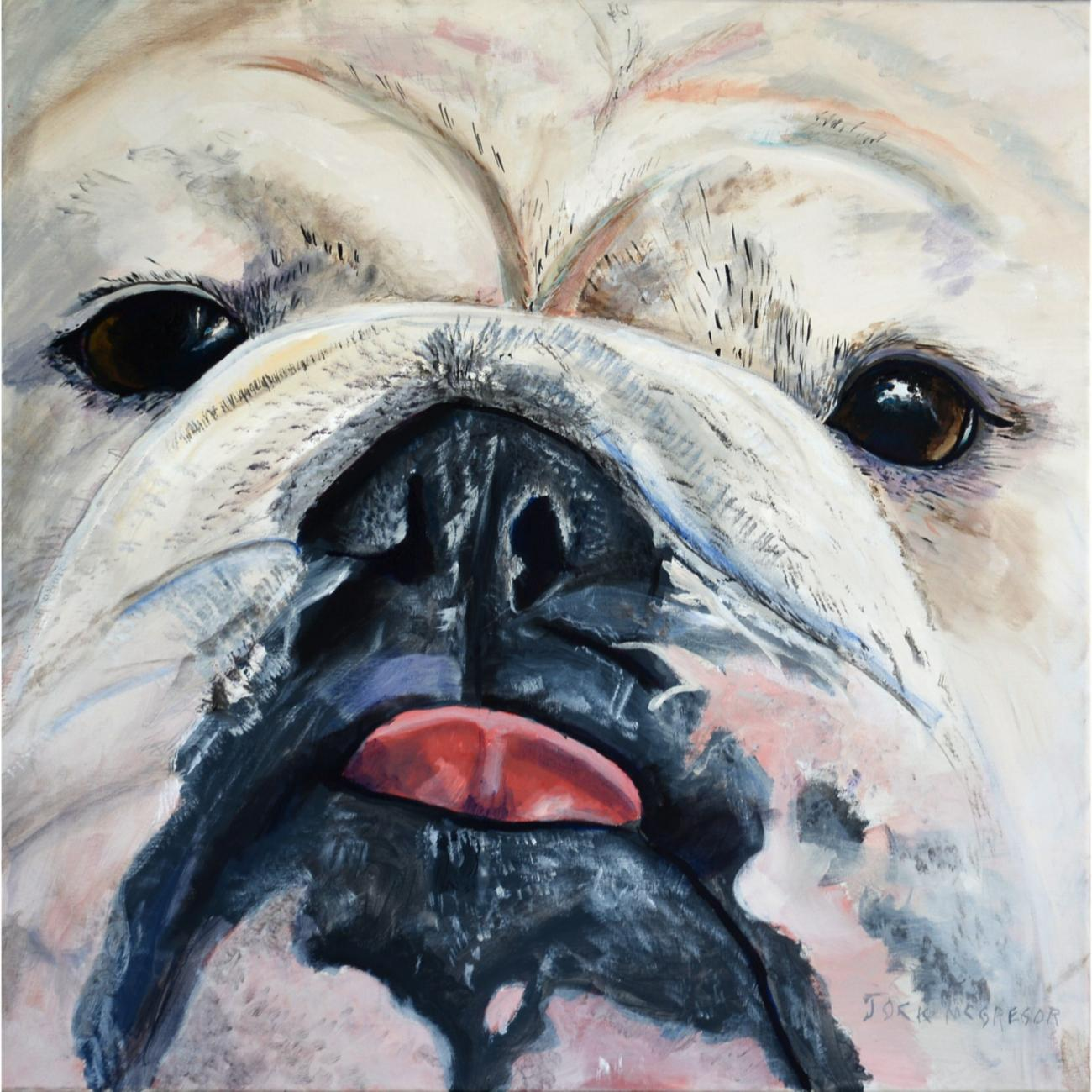 painting of the bulldog