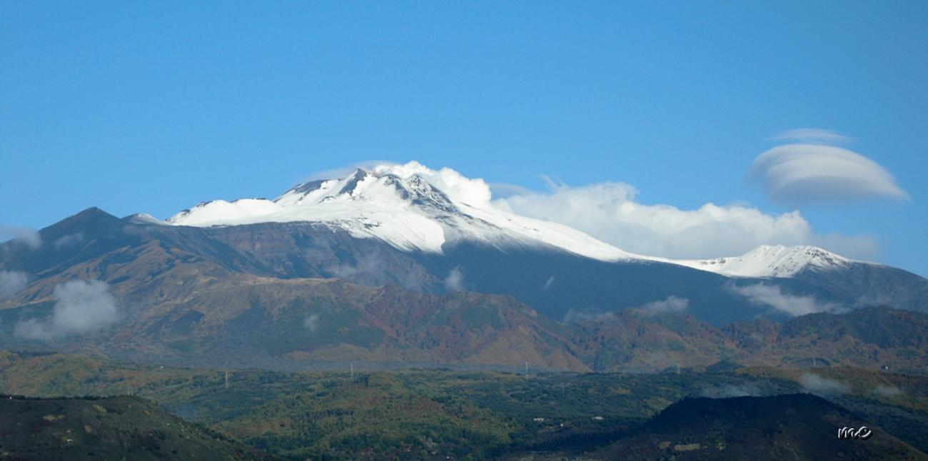 First snow on Etna