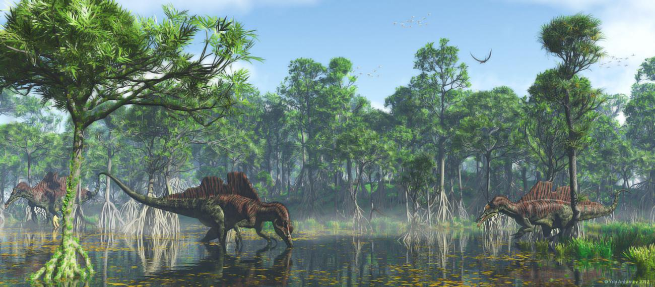 Ichthyovenator in search of food