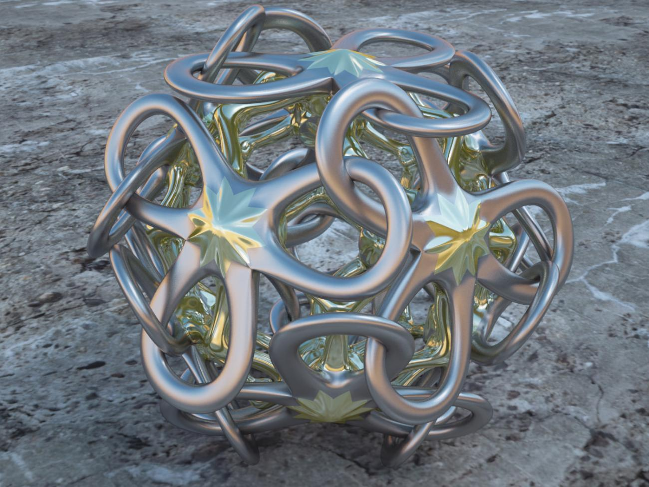 Interlocked Polyhedral Petals