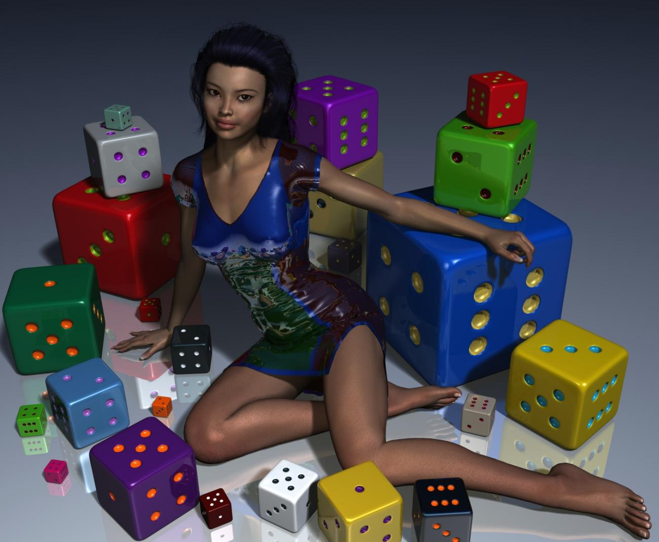 Girl and Dice