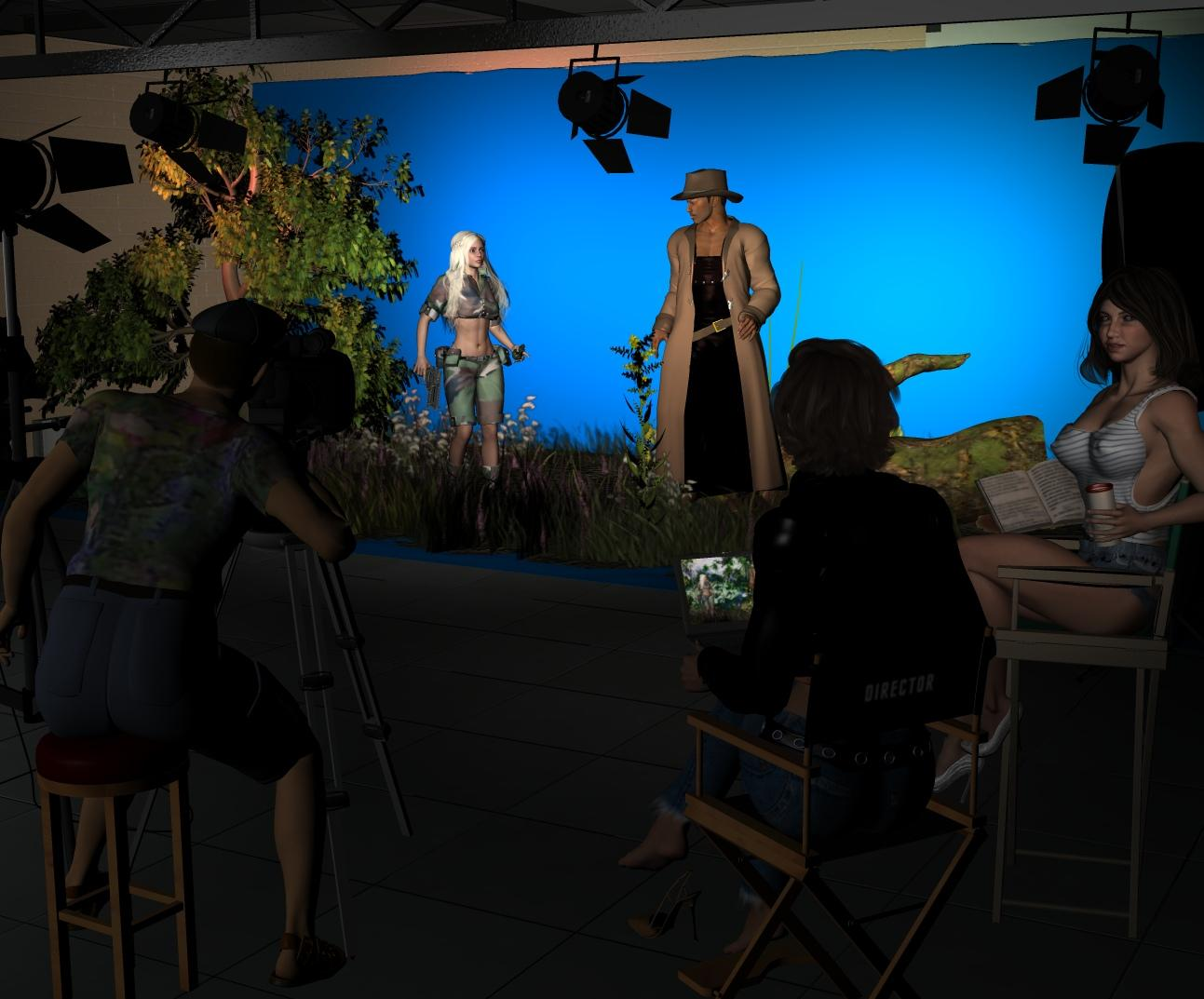 3D Dolls on the Set