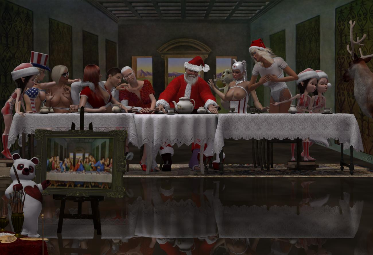 Santa Vinci : The Last Supper