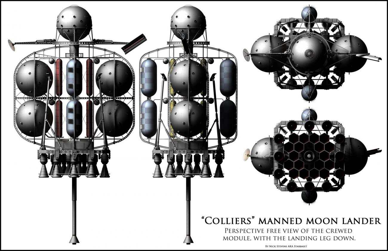 Colliers Moon Lander - Crew Version by starbase1