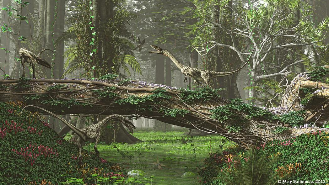 Coelophysis in search of food
