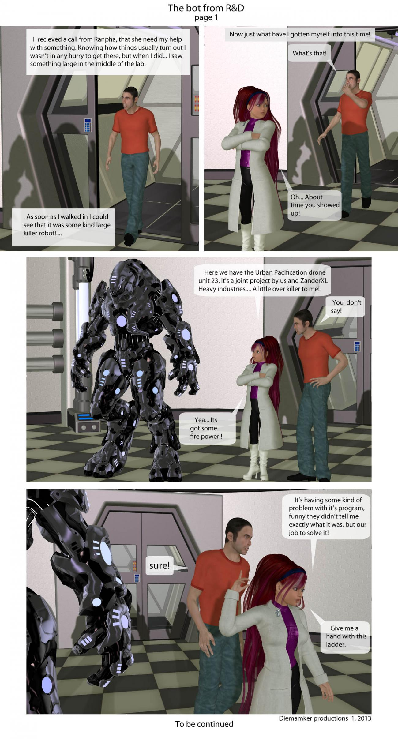 The bot from R&D... scene 1