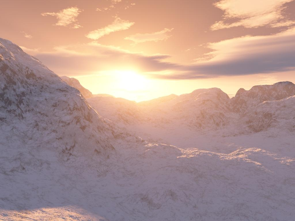 Snow sunset.