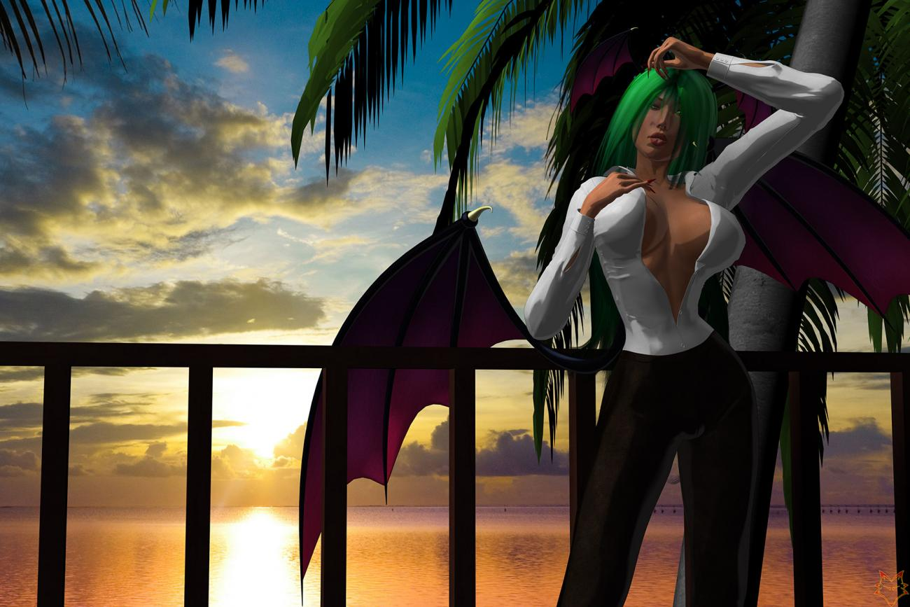 MORRIGAN AT SUNSET